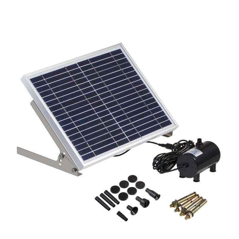 משאבת מים סולארית  + פאנל סולארי 15W