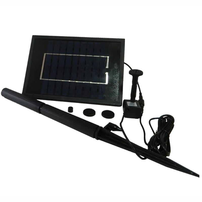 משאבת מים סולארית 200 ליטר/שעה + פאנל סולארי 5W