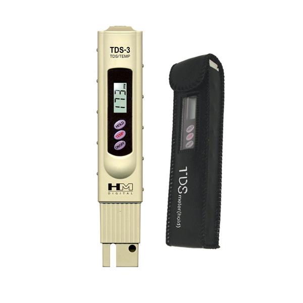 מדידת מוליכות חשמלית עם מד ידני דיגיטלי TDS-3