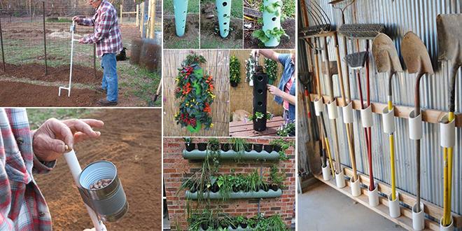 עשה זאת בעצמך בגינה עם צינורות פלסטיק